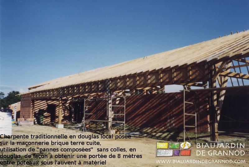 Panne composée= 8 m de portée, sans colle, avec des bois qualité charpente