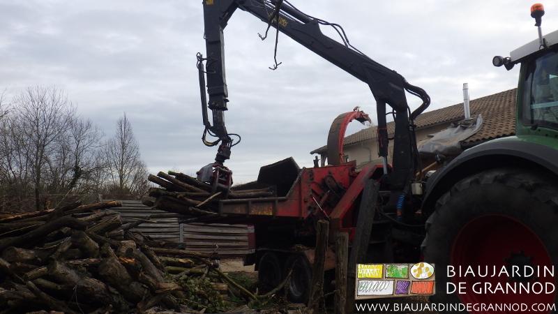 Manipulation mécanique du bois à déchiqueter