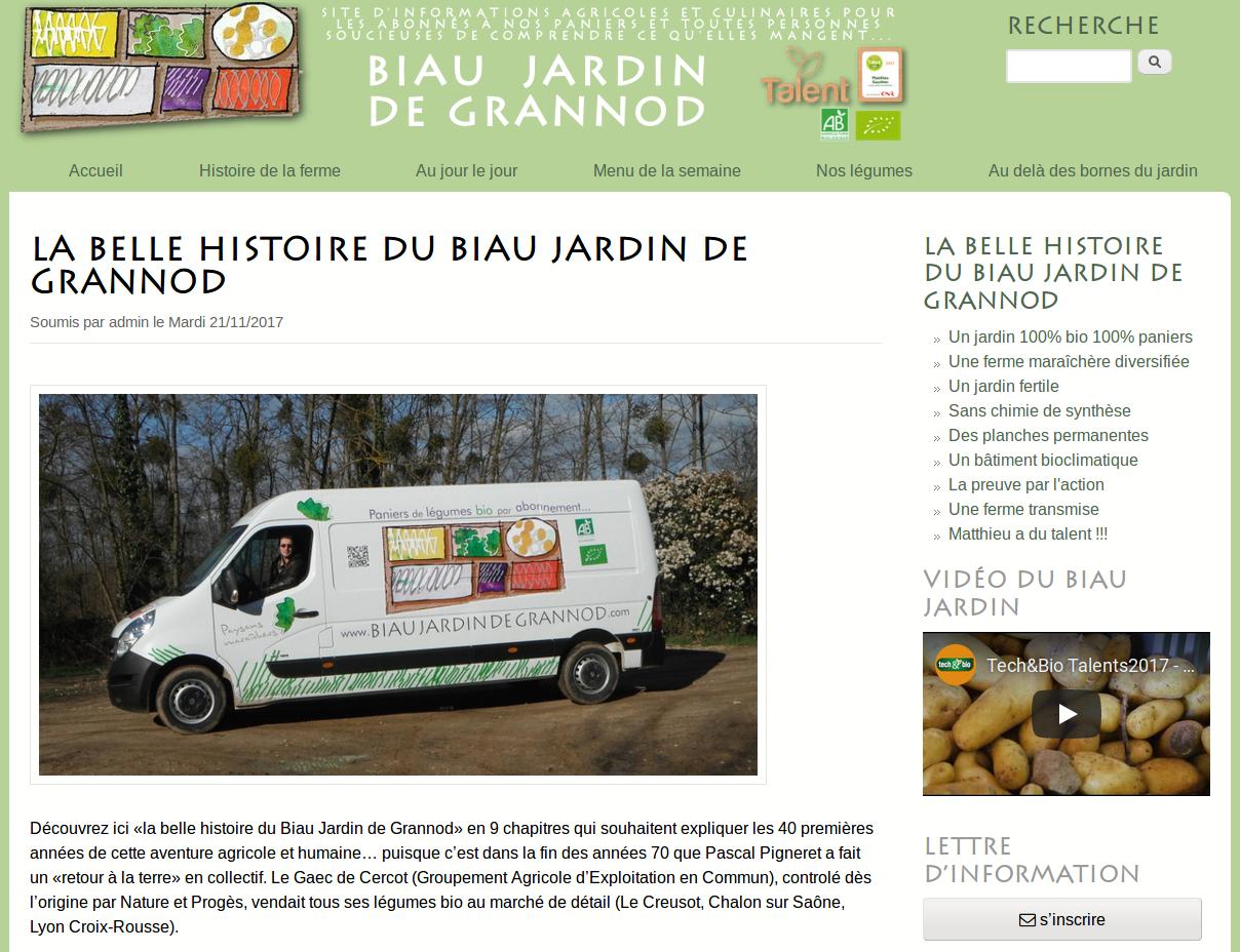 """Cliquer pour accéder au début du livre """"La belle histoire du Biau Jardin de Grannod"""""""
