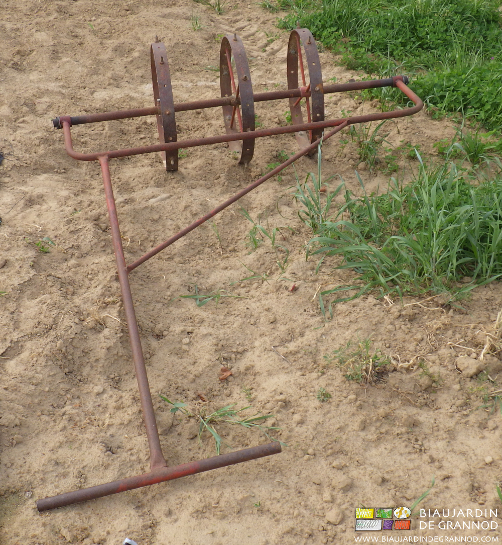 Une des roues perceuses utilisées sur notre ferme.