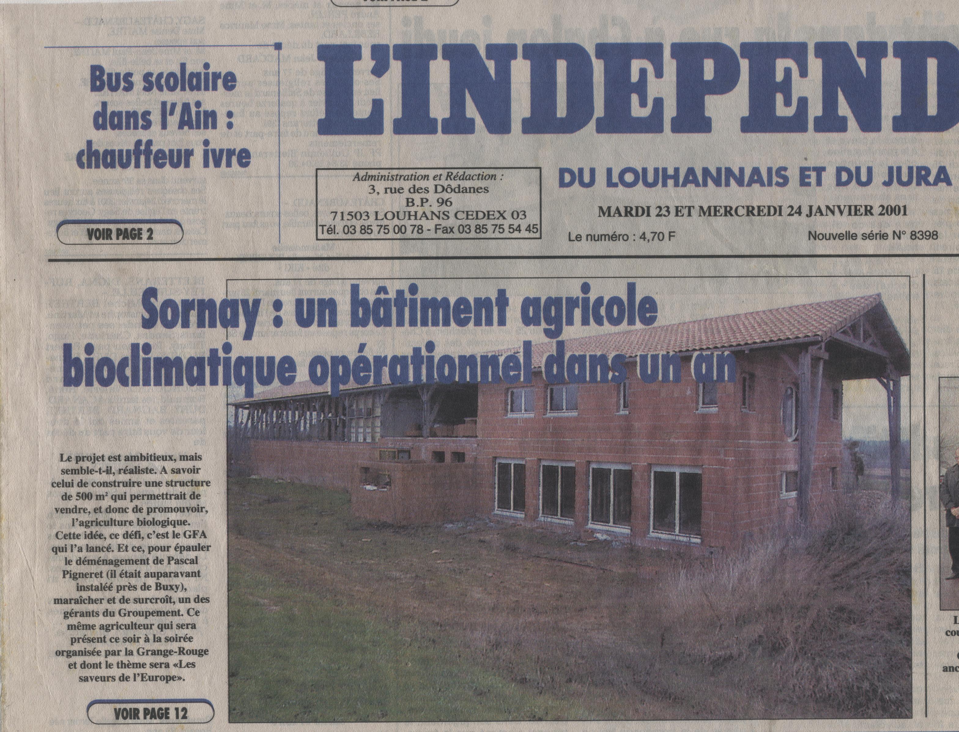 l'Indépendant du Louhannais et du Jura
