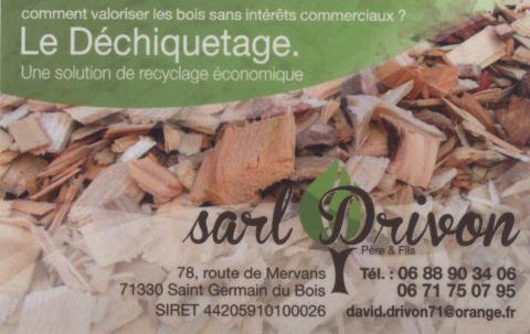 Didier Drivon fait du déchiquetage à façon