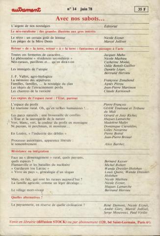 Éditions Autrement 1978