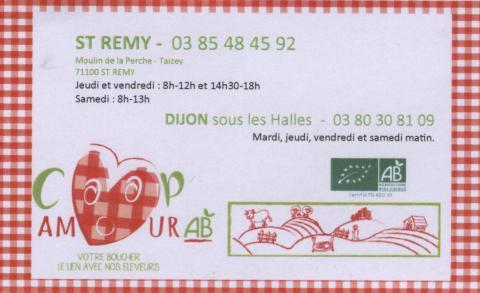 Dépot de paniers à la Boucherie Bio de Bourgogne Moulin de la Perche Taisey