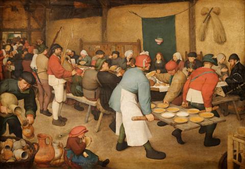 Brueghel l'ancien. Le repas de noces.