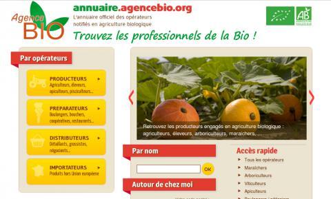 L'annuaire de l'agence bio, en un seul lieu, l'accès à tous les opérateurs.