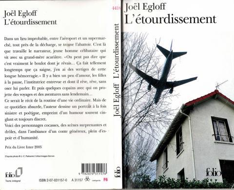 Joël Egloff L'étourdissement Gallimard 2005.