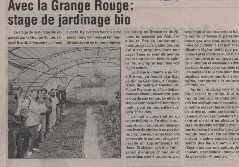 Stages jardinage bio pour amateurs avec la Grange Rouge