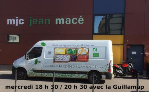 livraison de nos paniers chaque mercredi à la Guillamap MJC Jean Macé 69007