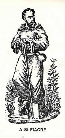 Saint Fiacre, le saint patron des jardiniers.