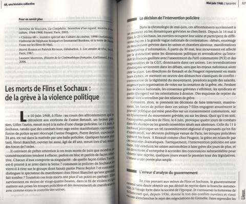"""68 Une histoire collective"" Philippe Artières Michelle Zancarini-Fournel Éditions La Découverte"""