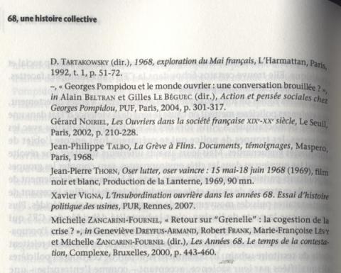 """68 Une histoire collective"" Philippe Artières Michelle Zancarini-Fournel Éditins La Découverte"